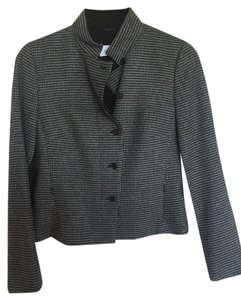 Akris Punto Luxury Houndstooth Gray Black Jacket