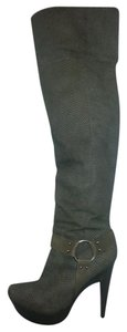 Jessica Simpson Snakeskin Thigh High Grey Boots