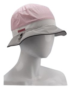 Prada Prada Milano Pink Grey Nylon Bucket Hat Size Medium New In Bag