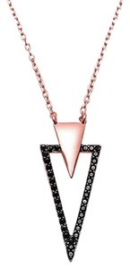 9.2.5 rare black sapphire rose gold dipped v necklace