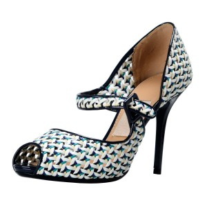 Salvatore Ferragamo Navy/White Pumps