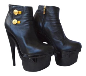 Versace Leather Black Boots