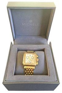 Michele Authentic Michele Deco Gold, Diamond dial watch