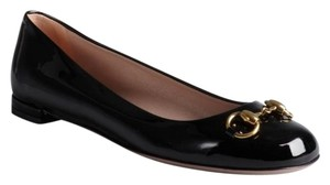 Gucci Work Office Patent Leather Italian Black Flats