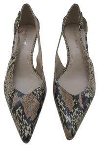 Ellen Tracy Heels Pointed Toe Snakeskin Pumps