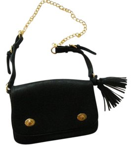 Adrienne Vittadini Faux Leather Chain Strap Cross Body Bag
