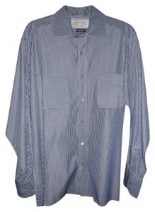 Colours by Alexander Julian Button Down Shirt BLUE & WHITE