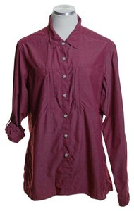 ExOfficio Woven Long Sleeve Button Down Shirt Red