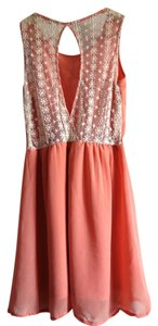 Double Zero short dress Blush Lace Keyhole on Tradesy