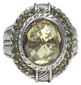 Judith Ripka Judith Ripka925 Sterling Silver yellow Gemstone Ring size 7