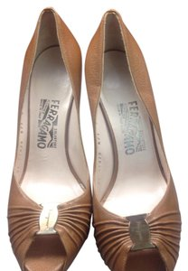 Salvatore Ferragamo Tan Platforms