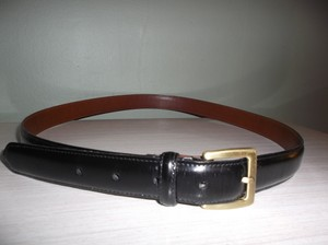 Coach COACH WOMENS BLACK COWHIDE LEATHER CASUAL BELT SZ 38