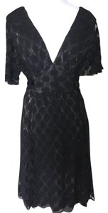 Anna Sui Collection Coctail Sheer Polka Dot Dress