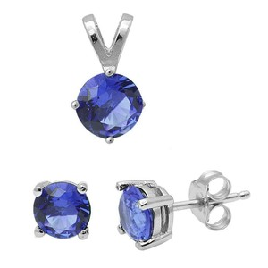 9.2.5 stunning tanzanite pendant and earrings set