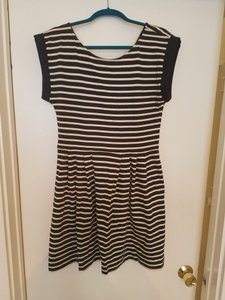 French Connection short dress Navy blue/white on Tradesy