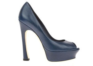 Saint Laurent Navy Blue Pumps