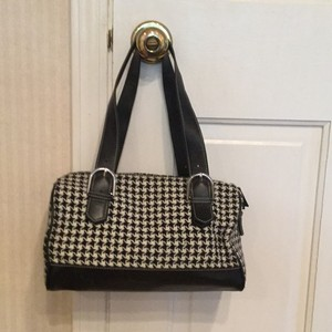 Ann Taylor LOFT Satchel in Black And White