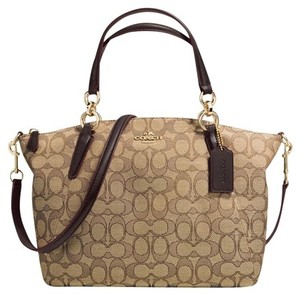 Coach Prairie Kelsey Crossbody Satchel in Khaki/brown