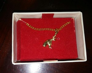 Other Little Girls Gold Tone Rudolph Christmas Necklace