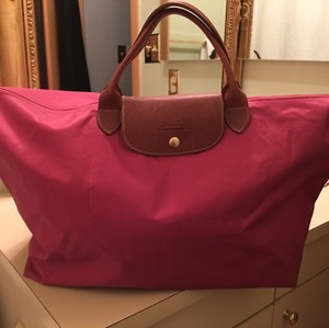 Longchamp Travel Le Pliage Tote in Pink