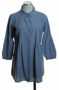 Ruff Hewn Woven Button Down Shirt Blue