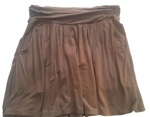 Michael Stars Mini Skirt Putty