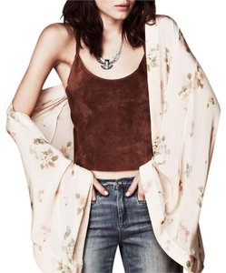 One Teaspoon Printed Floral Bohemian Kimono Jacket Cape Cardigan