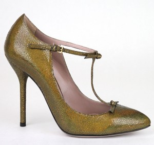 Gucci Metallic Leather Bronze/8200 Pumps