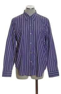 Chaps Woven Button Down Shirt Purple