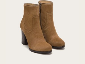 Frye Distressed Ankle Tan Boots
