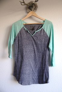 No Boundaries T Shirt Gray & Mint