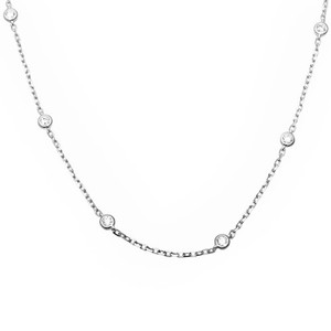 9.2.5 gorgeous white sapphire link necklace 925
