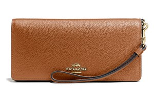 Coach Slim Saddle Leather Wallet
