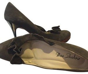 Mea Shadow Taupe suede Platforms