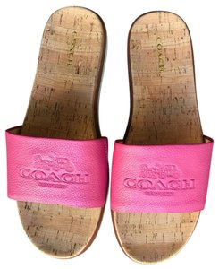 Coach Leather Cork Dahlia Sandals