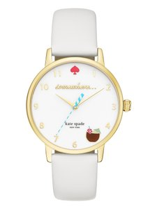 Kate Spade Kate Spade KSW1105 Somewhere Gold tone White Leather Band Watch