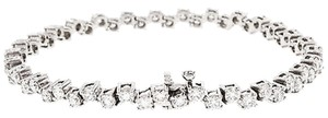 5.20,Ct,Diamond,14,K,White,Gold,Womens,Ladies,Bracelet