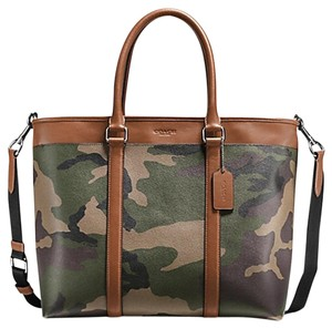 Coach Weekender Business Tote in Green Camo