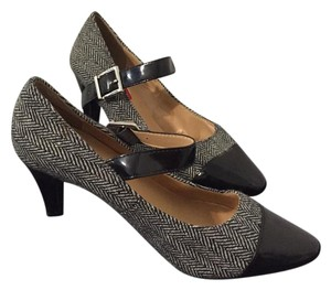 Karen Scott Herringbone Shoe black white Pumps