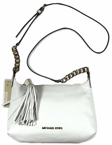 Michael Kors Weston Small Messenger Handbag Satchel in Optic White