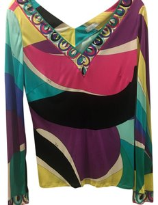 Emilio Pucci Top Pink Blue Purple Etc.