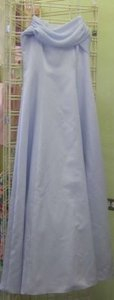 David's Bridal Periwinkle Satin 20060294 Formal Bridesmaid/Mob Dress Size 6 (S)