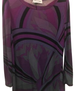 Emilio Pucci Top Purple Black