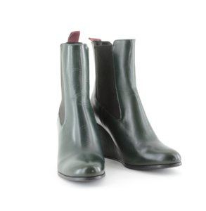 CLOSED Leather Leather Green Boots