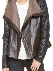 Vince Espresso/Black/Oak Leather Jacket