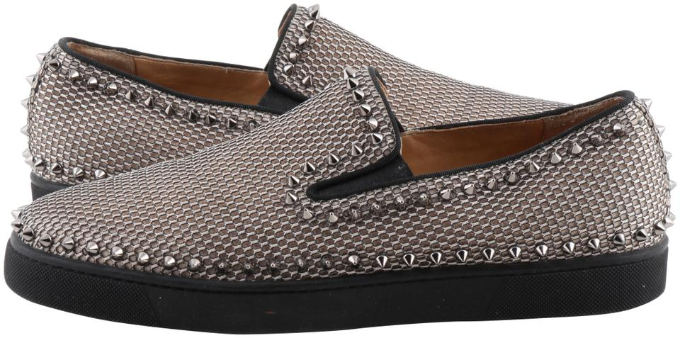 more photos 2ce1d d2ee3 Christian Louboutin Multicolor Studded Slip On Mesh Pik Boat Loafer Mens  Sneakers Size US 10 Regular (M, B) 30% off retail