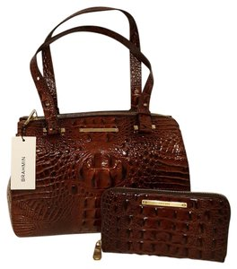 Brahmin Medium Size Wallet Set Satchel in Black Melbourne