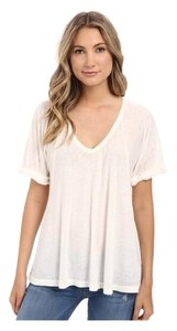 Free People T Shirt Ivory