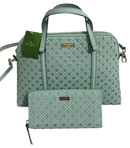 Kate Spade Caning Satchel in Grace Blue