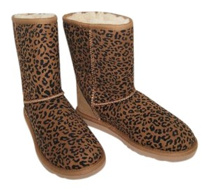 UGG Australia Suede Shearling Chestnut Leopard Boots